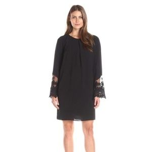 AGB - WOMEN'S BELL SLEEVE INVERTED PLEAT DRESS